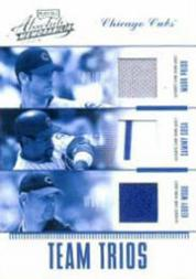 2004 Absolute Memorabilia Team Trio Material #1 Sammy Sosa/Mark Prior/Kerry Wood