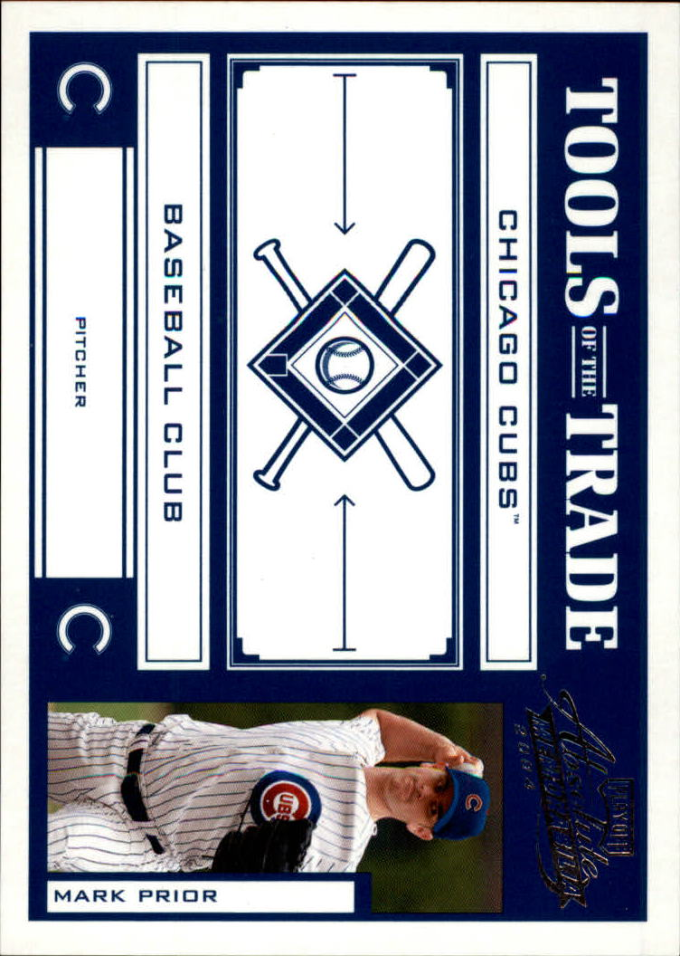 2004 Absolute Memorabilia Tools of the Trade Blue #90 Mark Prior H