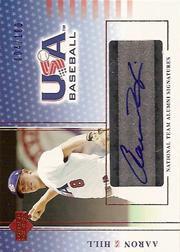 2004-05 USA Baseball National Team Alumni Signatures Blue #AH Aaron Hill/100