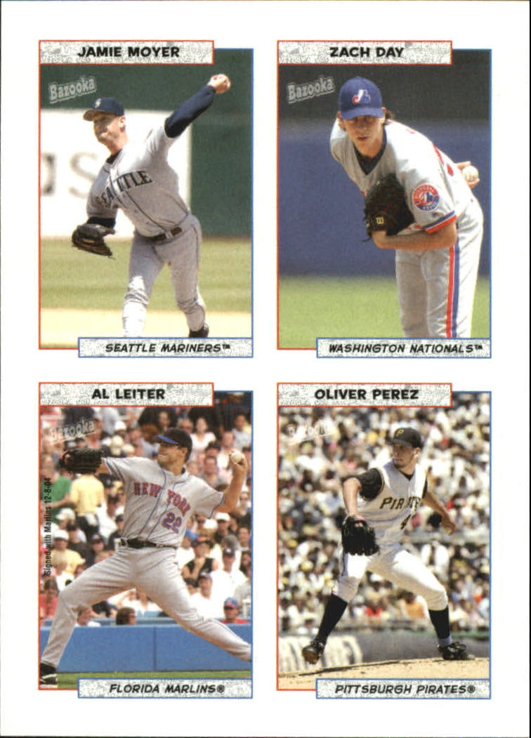 2005 Bazooka 4 on 1 Stickers #18 Moyer/Day/Leiter/O.Perez
