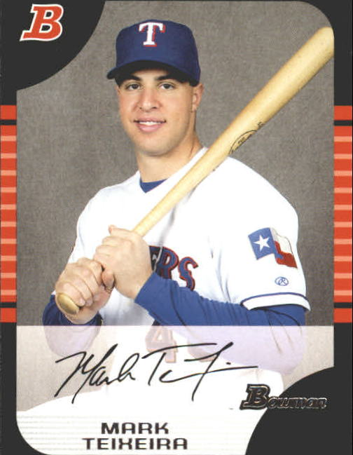 2005 Bowman #43 Mark Teixeira