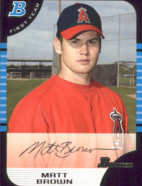 2005 Bowman #302 Matt Brown FY RC