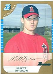 2005 Bowman Gold #302 Matt Brown FY