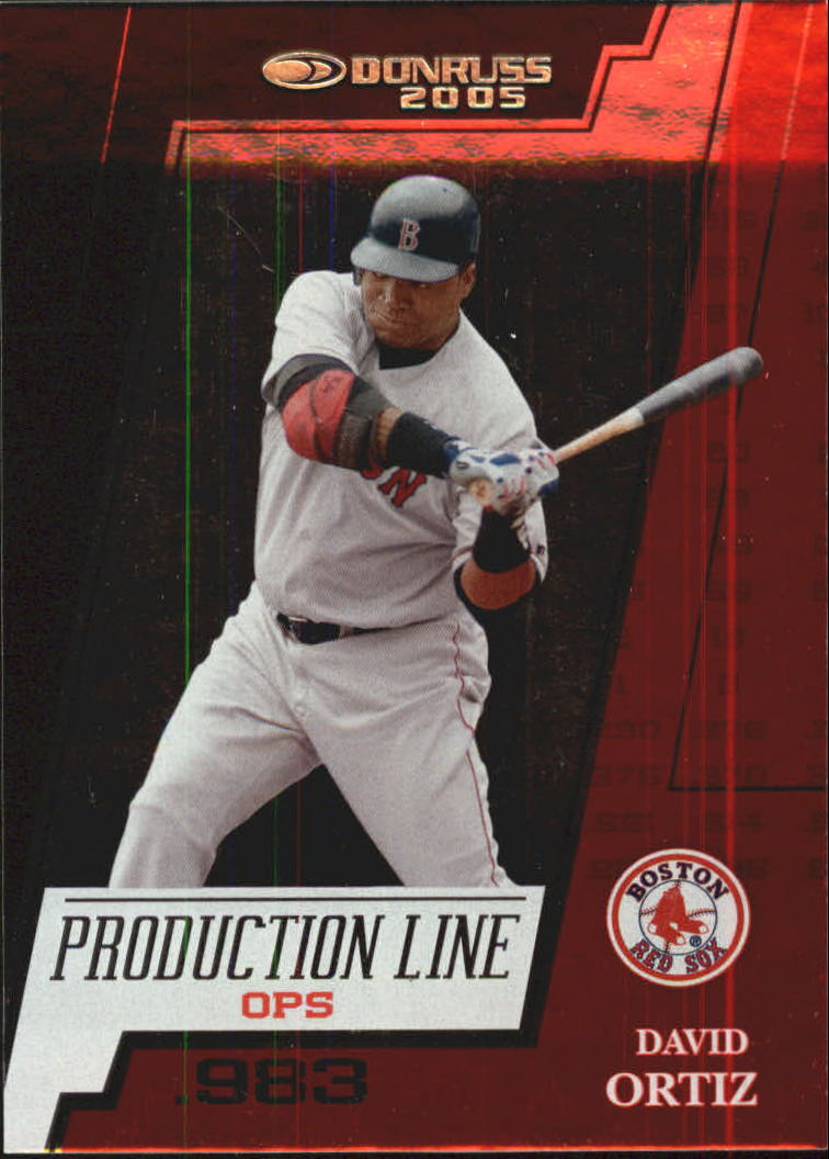2005 Donruss Production Line OPS #2 David Ortiz/983