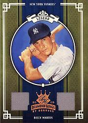 2005 Diamond Kings Materials Bronze #438 Billy Martin Jsy-Pants/200