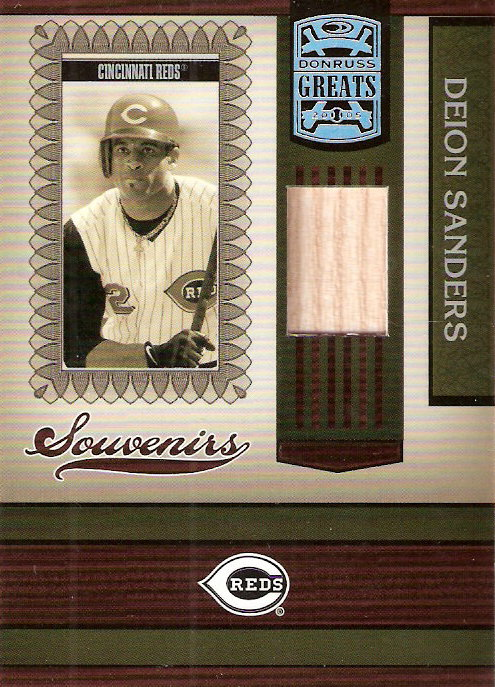 2005 Donruss Greats Souvenirs Material Bat #9 Deion Sanders T5