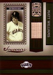 2005 Donruss Greats Souvenirs Material Bat #13 Matt Williams T5