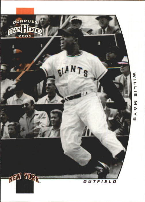 2005 Donruss Team Heroes #422 Willie Mays