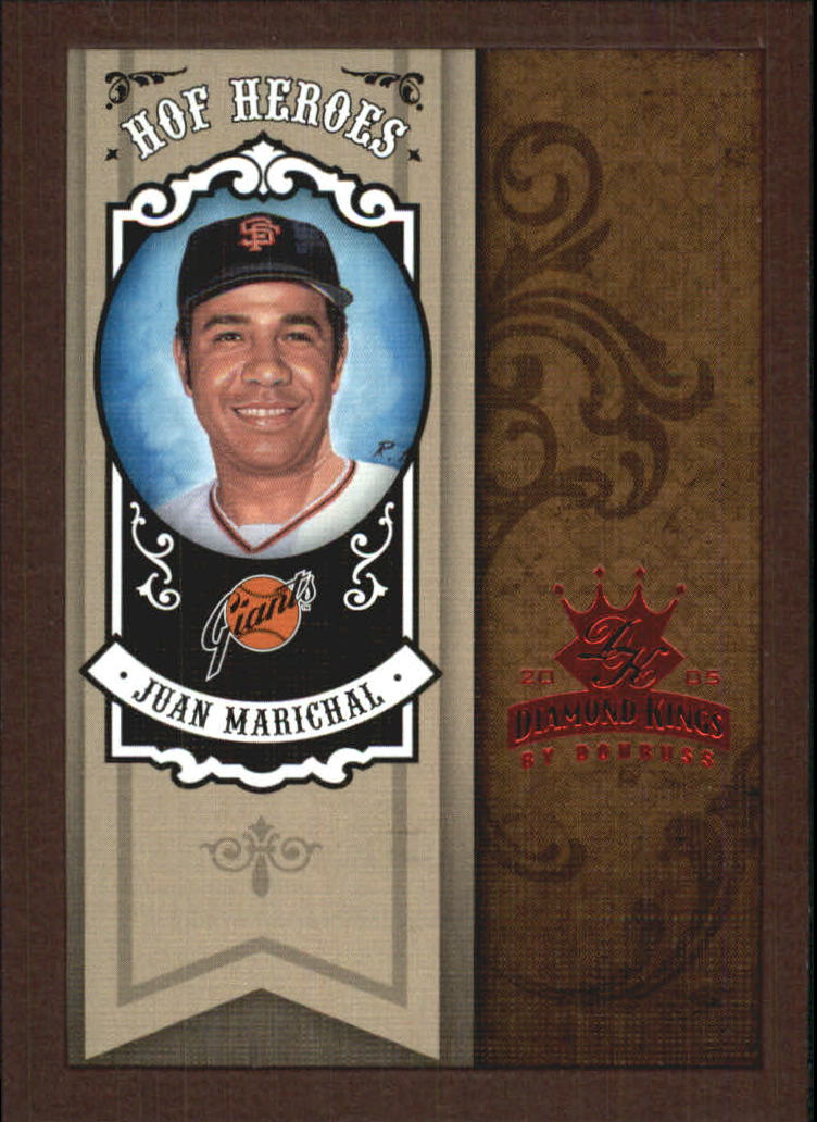 2005 Diamond Kings HOF Heroes Framed Red #27 Juan Marichal
