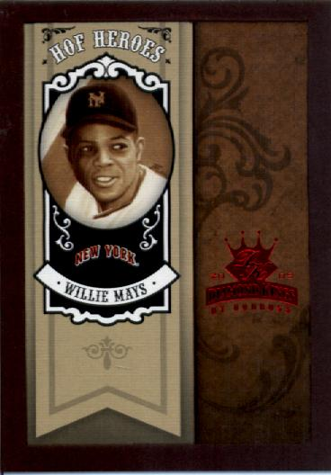 2005 Diamond Kings HOF Heroes Framed Red #85 Willie Mays