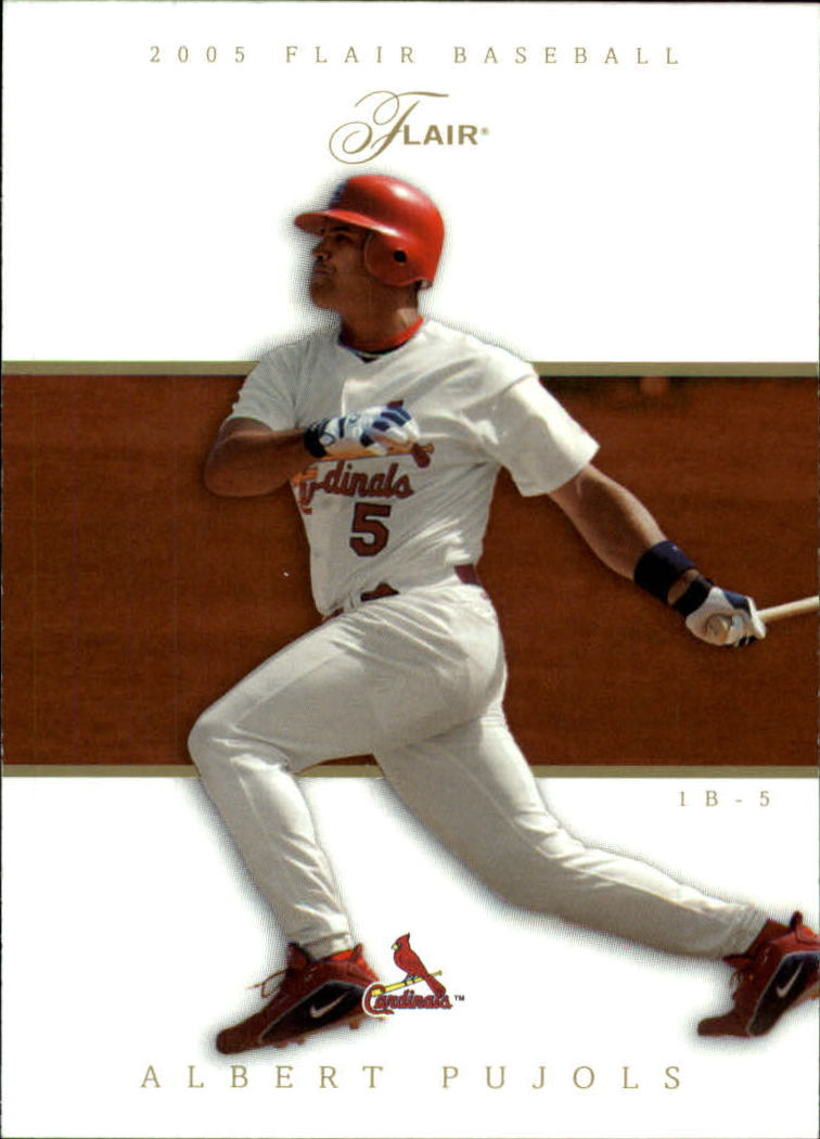 2005 Flair #48 Albert Pujols