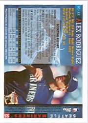 2005 Bowman Chrome A-Rod Throwback #95AR Alex Rodriguez 1995 back image