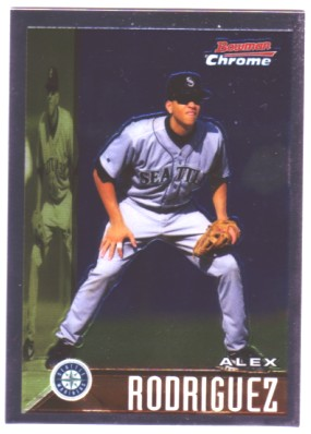 2005 Bowman Chrome A-Rod Throwback #95AR Alex Rodriguez 1995