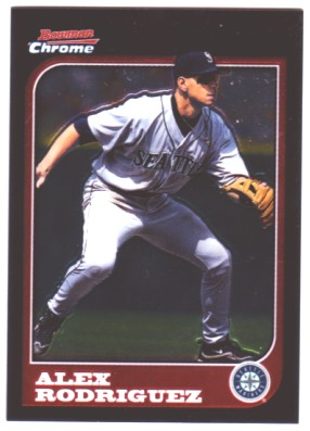 2005 Bowman Chrome A-Rod Throwback #97AR Alex Rodriguez 1997 front image