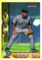 2005 Bowman Chrome A-Rod Throwback Refractors #95AR Alex Rodriguez 1995