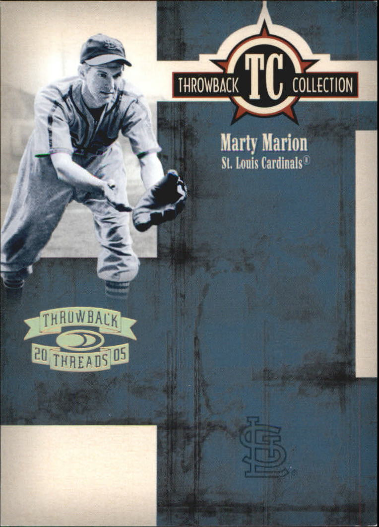 2005 Throwback Threads Throwback Collection Spectrum #56 Marty Marion