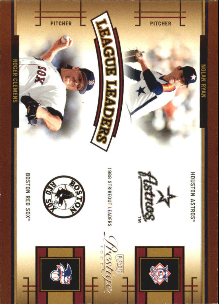 2005 Playoff Prestige League Leaders Double #4 N.Ryan/R.Clemens front image