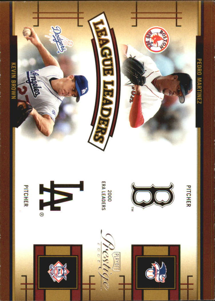 2005 Playoff Prestige League Leaders Quad #4 Pedro/K.Brown/Randy/Clem