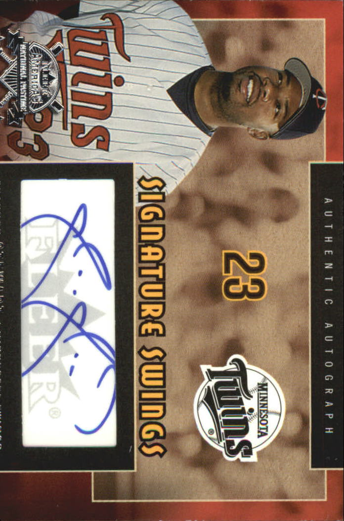 2005 National Pastime Signature Swings Silver #SS Shannon Stewart