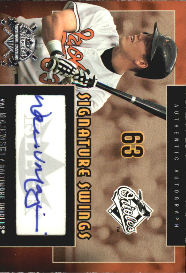 2005 National Pastime Signature Swings Silver #VAL Val Majewski
