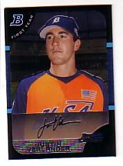2005 Bowman Chrome Draft #129 Justin Verlander FY