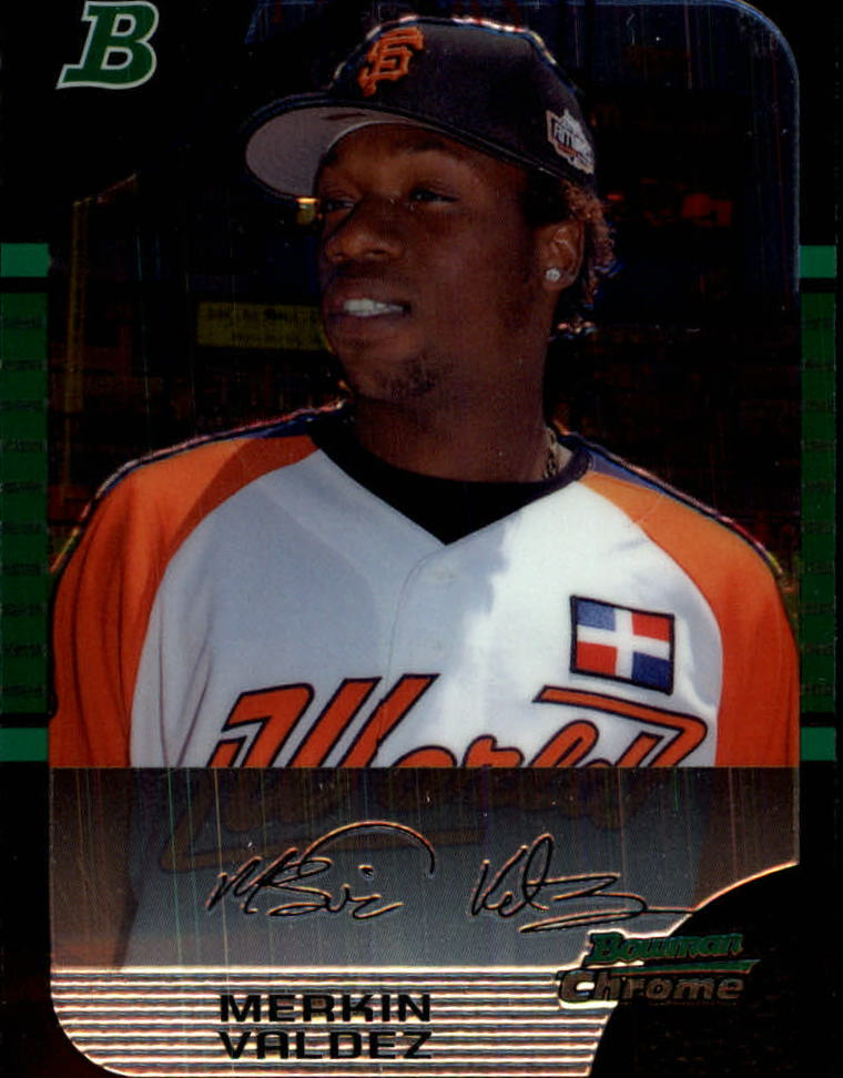 2005 Bowman Chrome Draft #132 Merkin Valdez PROS