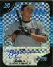 2005 Bowman Chrome Draft X-Fractors #178 Ryan Zimmerman AU