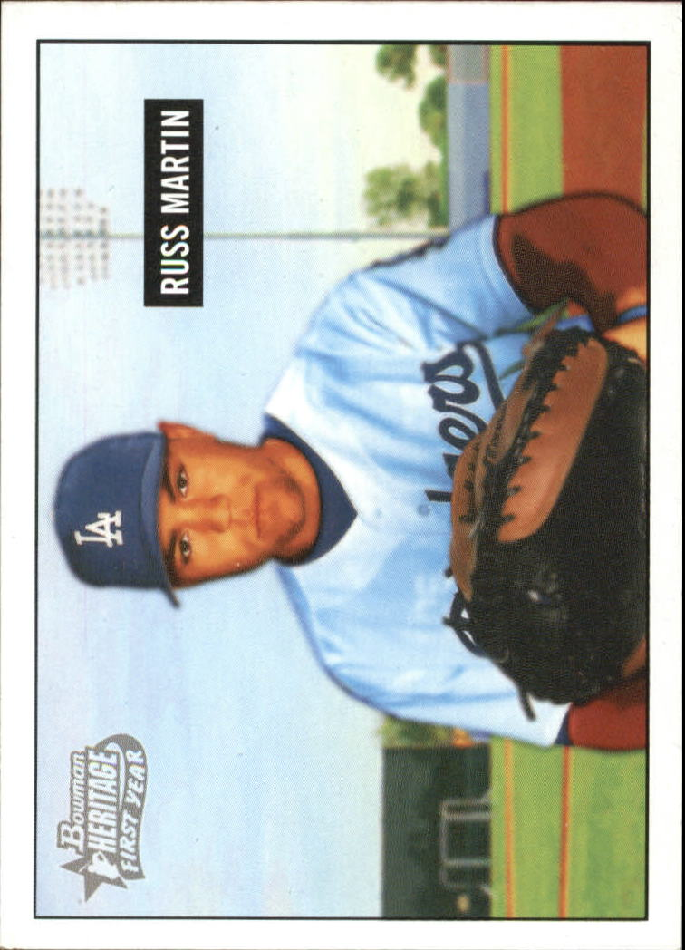 2005 Bowman Heritage #259 Russ Martin FY RC