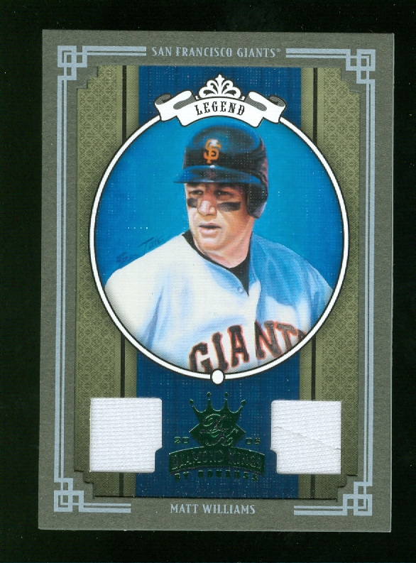 2005 Diamond Kings Materials Framed Green #299 Matt Williams Jsy-Jsy