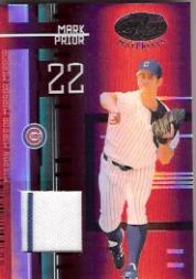 2005 Leaf Certified Materials Mirror Fabric Red #104 Mark Prior Jsy/250