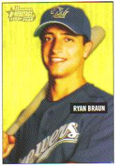 2005 Bowman Heritage Draft Pick Variation #341 Ryan Braun
