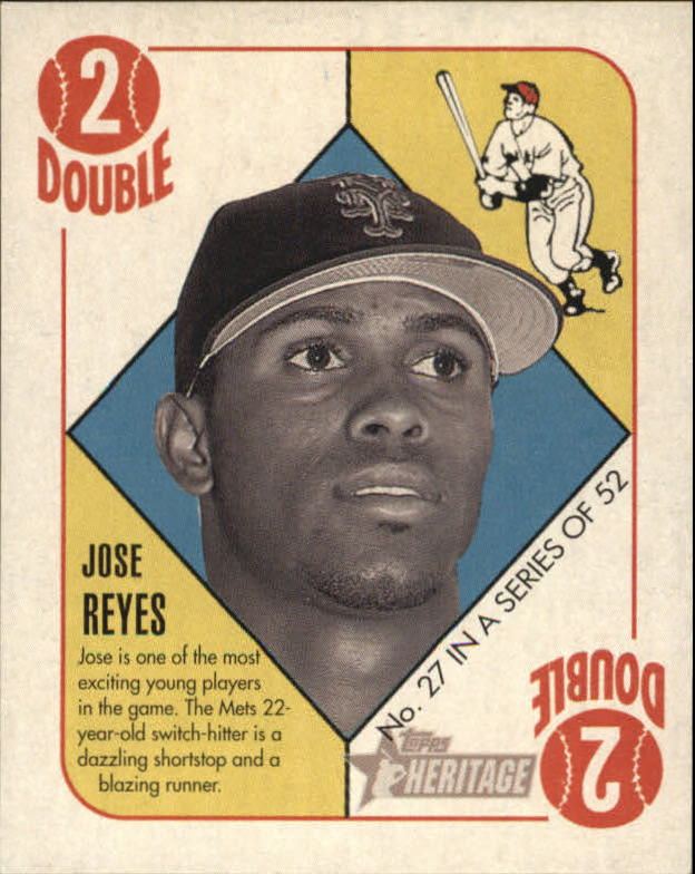 2005 Bowman Heritage 51 Topps Heritage Blue Backs #27 Jose Reyes