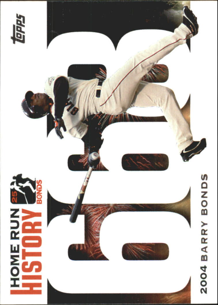 2005 Topps Barry Bonds Home Run History #668 Barry Bonds HR668 front image