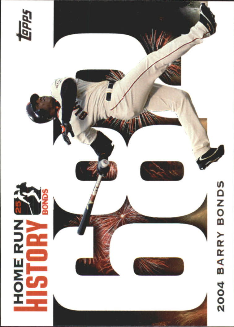 2005 Topps Barry Bonds Home Run History #682 Barry Bonds HR682 front image