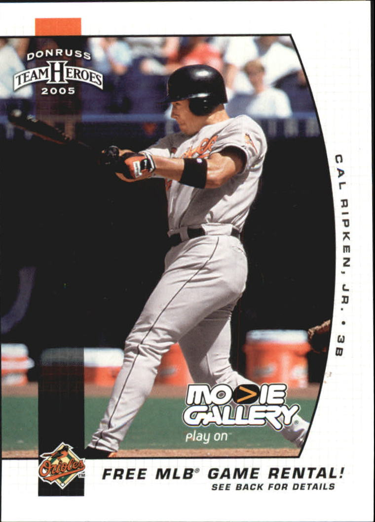 2005 Donruss Team Heroes Movie Gallery #1 Cal Ripken