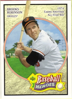 2005 Upper Deck Baseball Heroes #8 Brooks Robinson