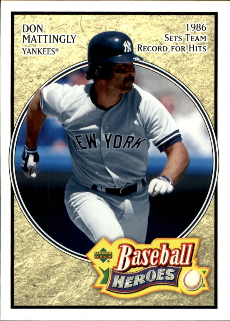 2005 Upper Deck Baseball Heroes #22 Don Mattingly