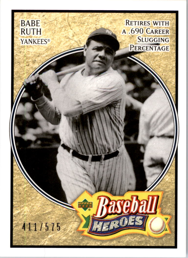 2005 Upper Deck Baseball Heroes #104 Babe Ruth Yanks
