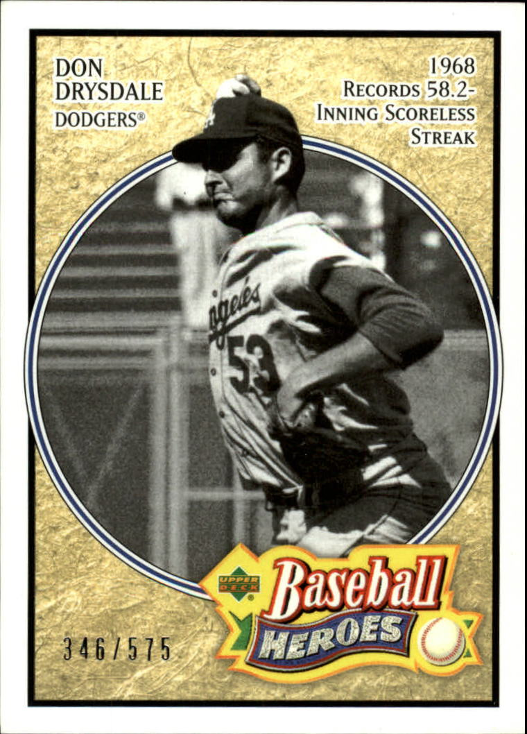 2005 Upper Deck Baseball Heroes #114 Don Drysdale