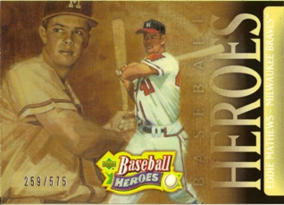 2005 Upper Deck Baseball Heroes #120 Eddie Mathews HDR