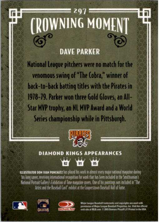 2005 Diamond Kings #297 Dave Parker back image