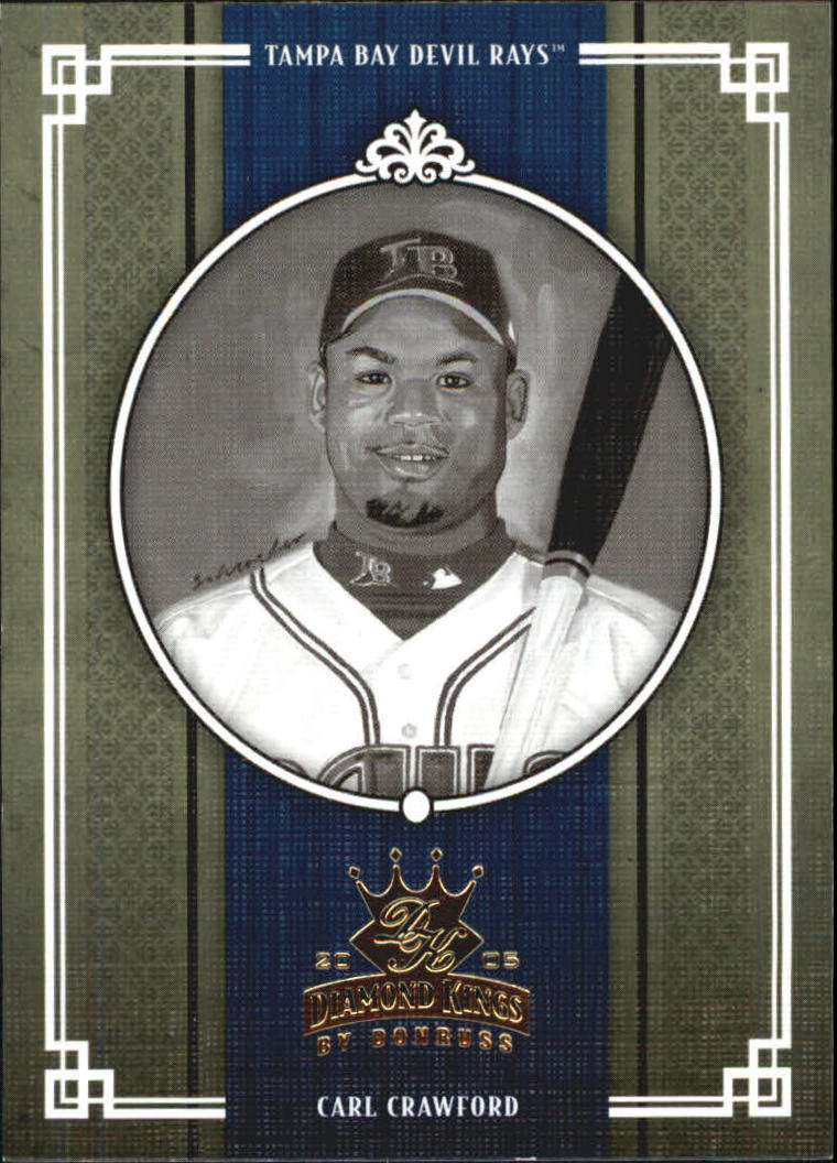 2005 Diamond Kings B/W #221 Carl Crawford