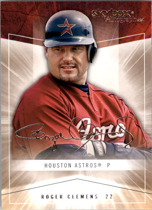2005 SkyBox Autographics #25 Roger Clemens