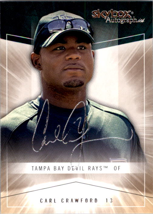 2005 SkyBox Autographics #52 Carl Crawford
