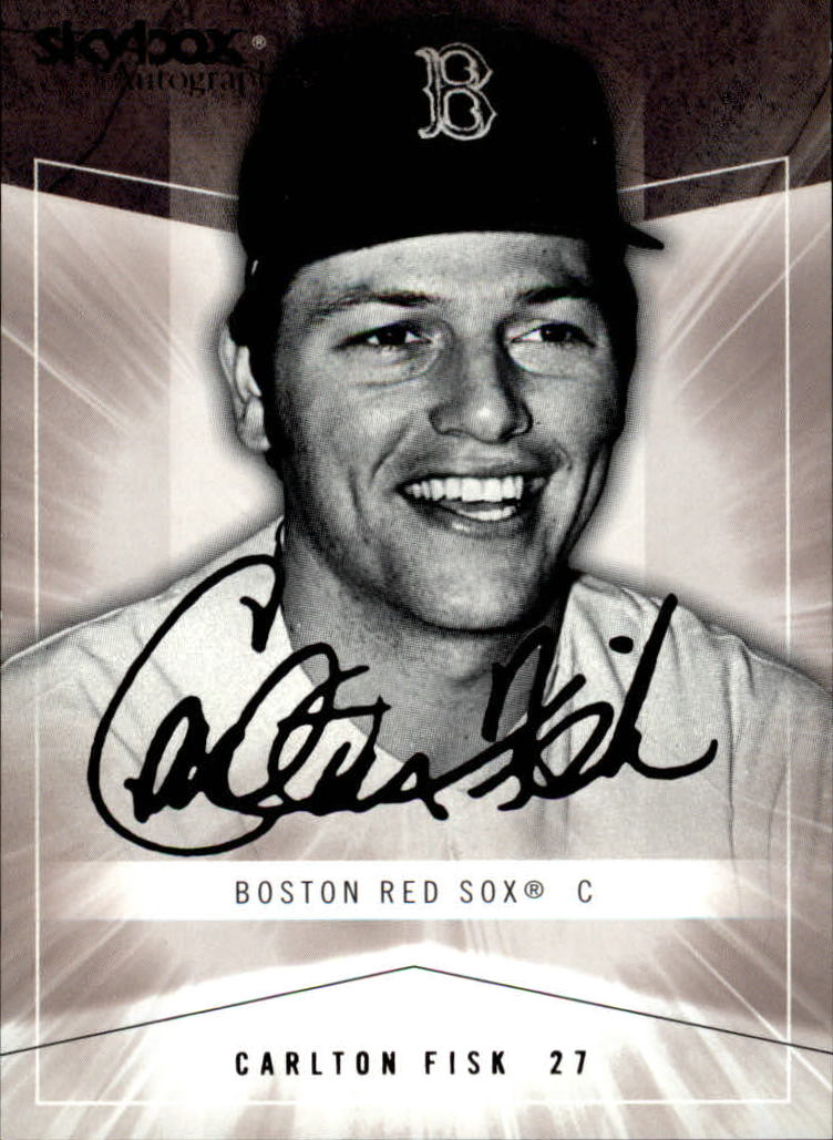 2005 SkyBox Autographics #66 Carlton Fisk GT