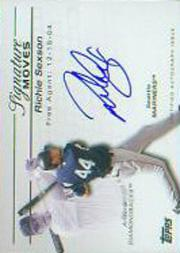 2005 Topps Update Signature Moves #RS Richie Sexson C/275