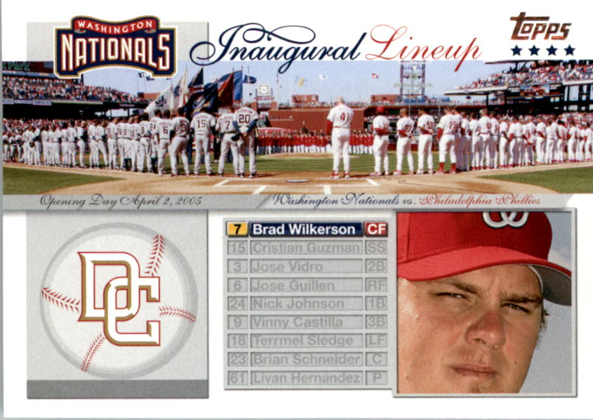 2005 Topps Update Washington Nationals Inaugural Lineup #BW Brad Wilkerson