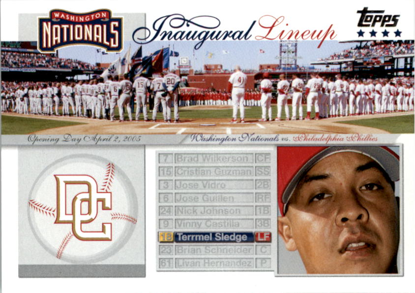 2005 Topps Update Washington Nationals Inaugural Lineup #TS Terrmel Sledge