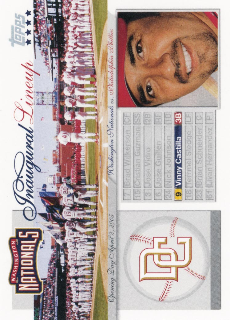 2005 Topps Update Washington Nationals Inaugural Lineup #VC Vinny Castilla