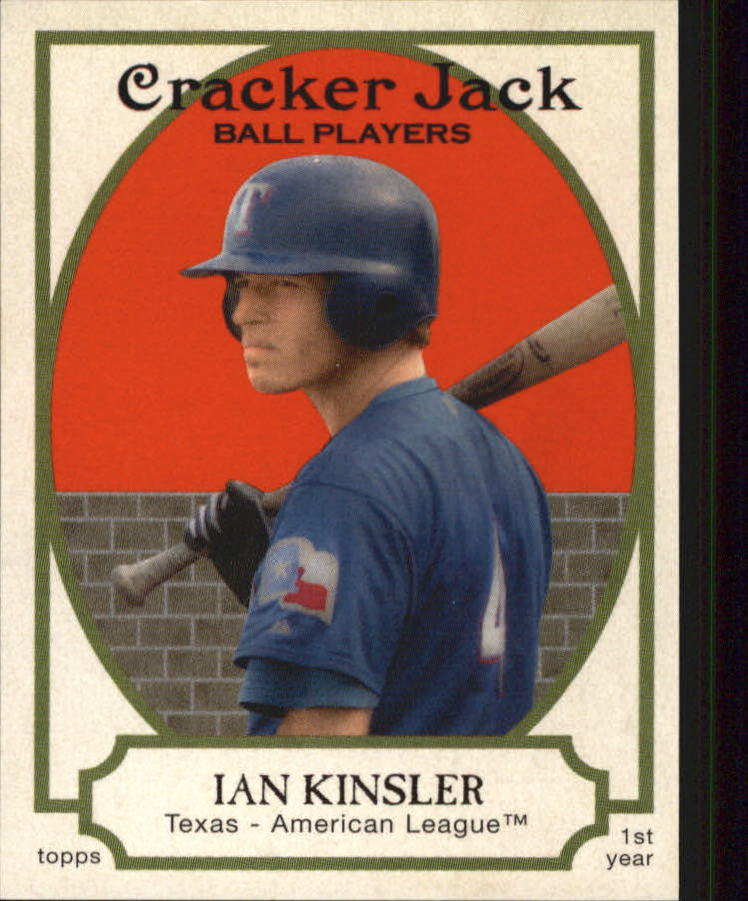 2005 Topps Cracker Jack Mini Stickers #201 Ian Kinsler SP